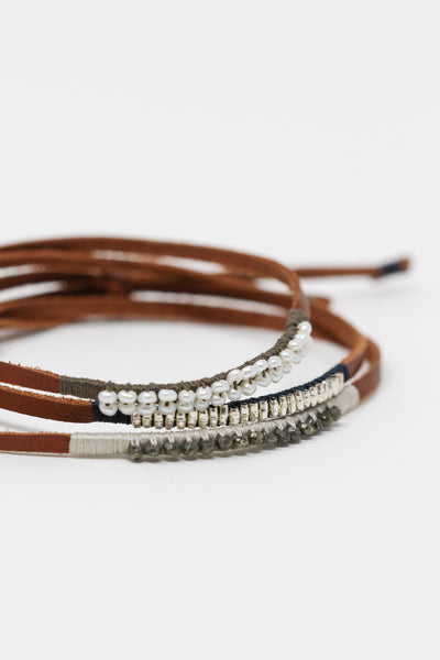 See Real Flowers Leather Bracelet | Oroboro Store | New York, NY