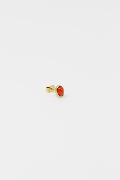 Grainne Morton Stud Earring in Gold Plated Silver and Cameo | Oroboro Store | New York, NY