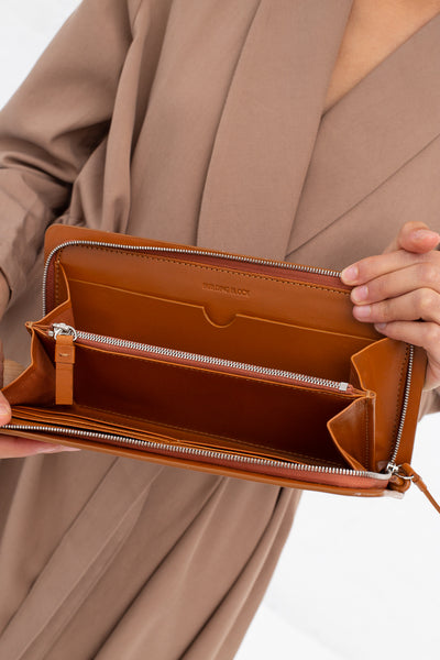 Building Block Book Wallet in Chestnut | Oroboro Store | New York, NY