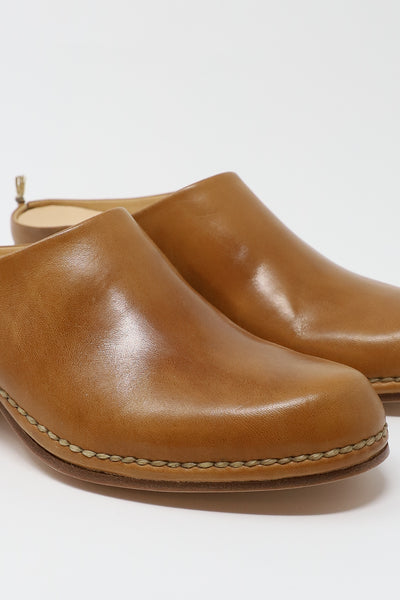 FEIT Ceremonial Mid Heel Mule in Tan | Oroboro Store | New York, NY