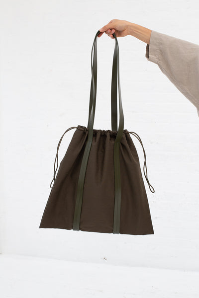 Building Block Drawstring Tote in Pine | Oroboro Store | New York, NY