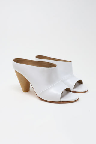 A Detacher Freidan Mules in White | Oroboro Store | New York, NY