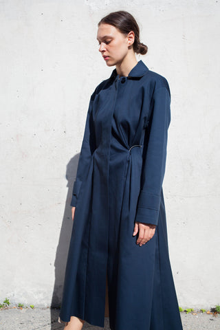 Yulia Kondranina Long Coat with Side Twist | Oroboro Store | Brooklyn, New York