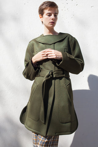 Veronique Leroy Coat in Bronze Khaki | Oroboro Store | Brooklyn, New York