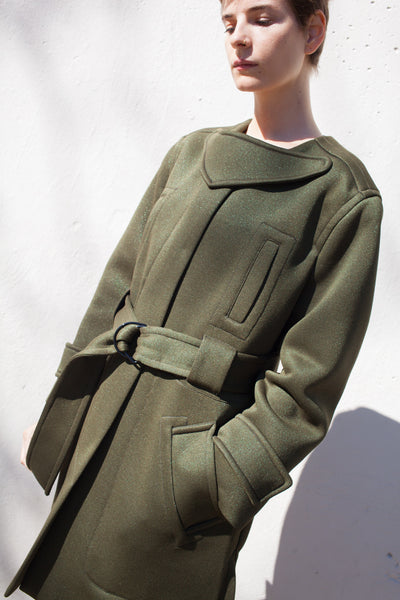 Coat in Bronze Khaki