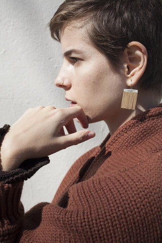 HannahK Nothing Earring in Warm Brass | Oroboro Store | Brooklyn, New York