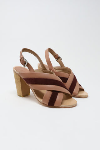 A Detacher Murry Sandals in Nude/Bordeaux | Oroboro Store | New York, NY