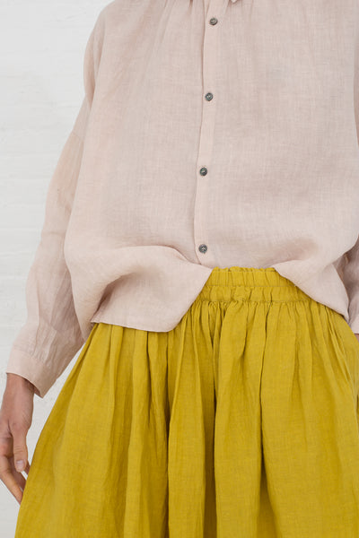 Ichi Antiquites Skirt in Yellow cropped front view