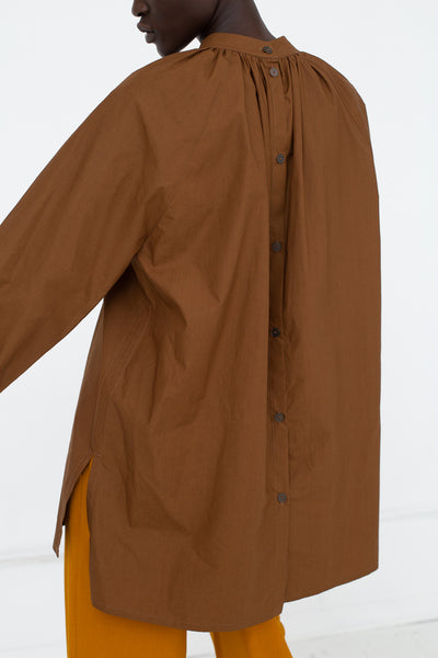 Nehera Biron Luxury Cotton Poplin in Tobacco | Oroboro Store | New York, NY
