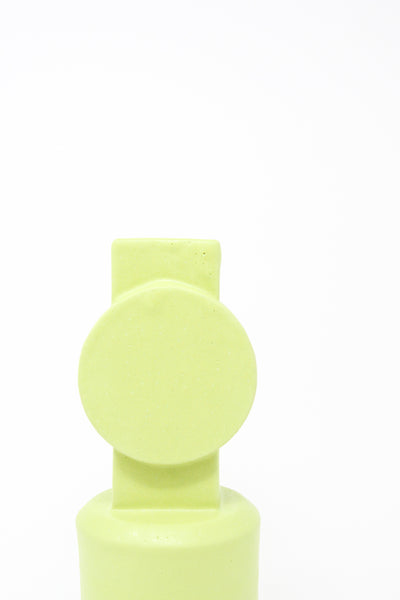 BZIPPY Small Circle Top Vase in Chartreuse | Oroboro Store | New York, NY