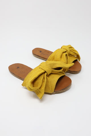 Brother Vellies Burkina Slide in Golden Jute | Oroboro Store | New York, NY