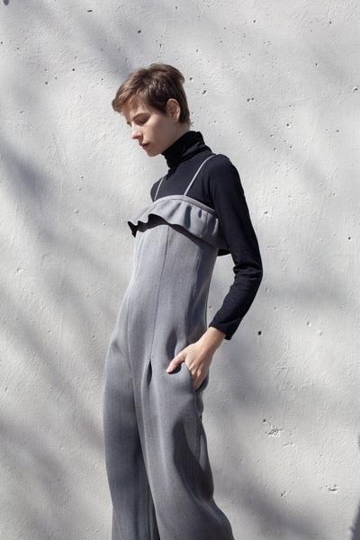 Jumpsuit in Mixed Gray