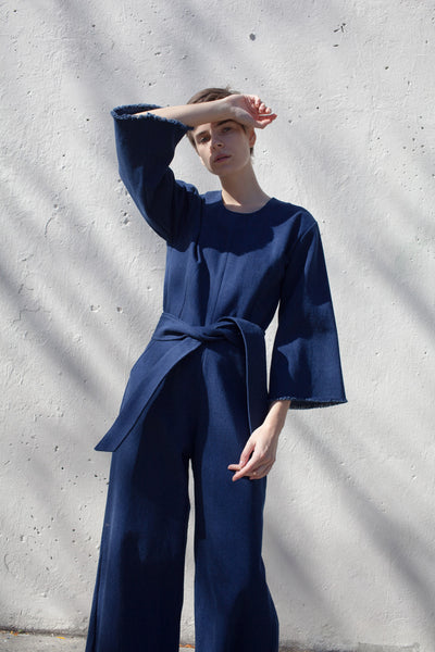 Delfina Balda Pallas Jumpsuit in Denim
