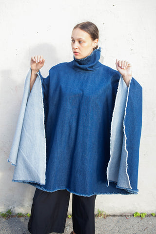 Ashley Rowe Short Poncho in Dash Wash | Oroboro Store | Brooklyn, New York