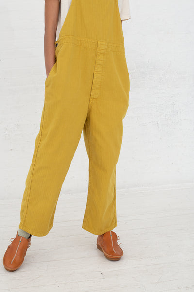 Ichi Antiquites Overalls in Yellow cropped front view