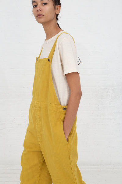 Ichi Antiquites Overalls in Yellow cropped side view
