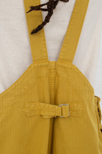 Ichi Antiquites Overalls in Yellow cropped back view