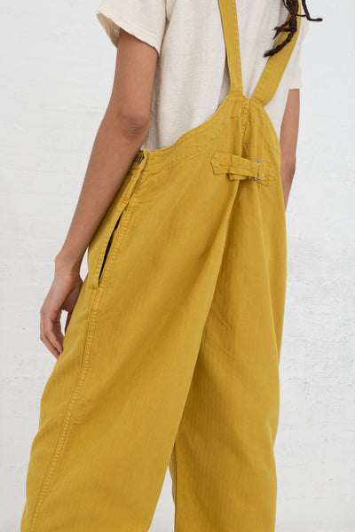 Ichi Antiquites Overalls in Yellow back view