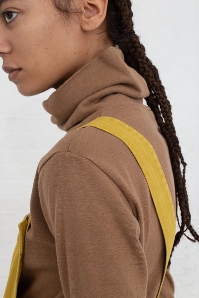 Ichi Antiquites Turtleneck in Camel cropped back view