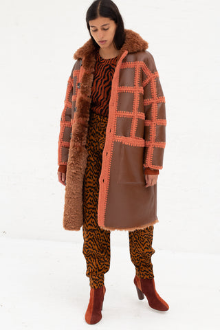 Ulla Johnson Ellaria Coat in Rust | Oroboro Store | New York, NY
