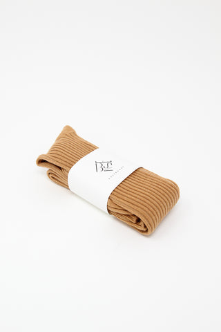 Baserange Overknee Socks in Furano Brown | Oroboro Store | New York, NY