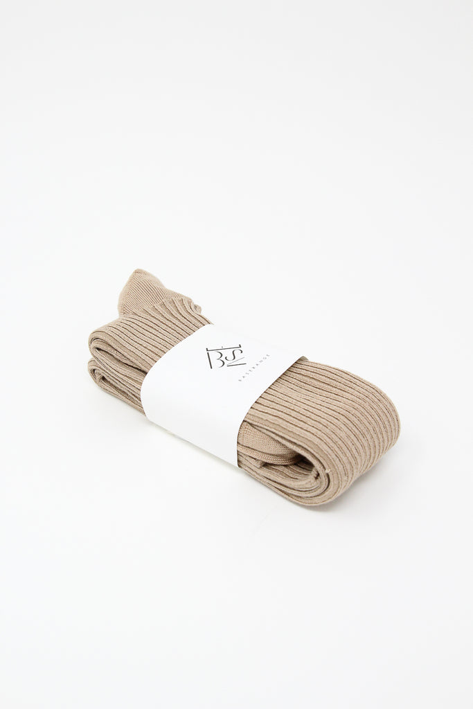 Baserange Overknee Socks in Gravel Beige | Oroboro Store | New York, NY