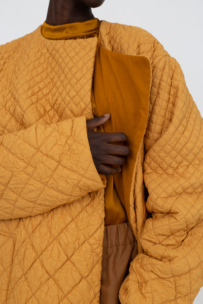 Nehera Clecy Wrinkled Quilting in Honey | Oroboro Store | New York, NY