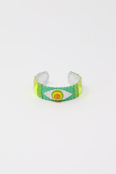 Robin Mollicone Eye Cuff in Yellow Jasper with Green and Yellow | Oroboro Store | New York, NY
