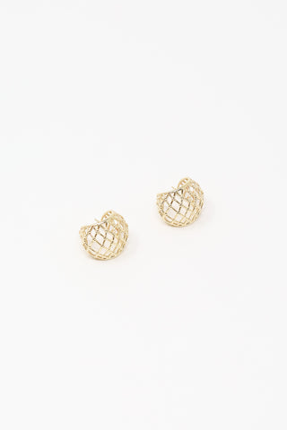 Ursa Major Netted Hoops in 10K Yellow Gold | Oroboro Store | New York, NY