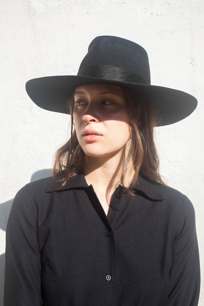 Reinhard Plank Nana Lapin Hat in Black Wool | Oroboro Store | Brooklyn, New York