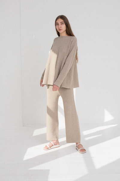 Lauren Manoogian Flare Pullover in Pumice full front view