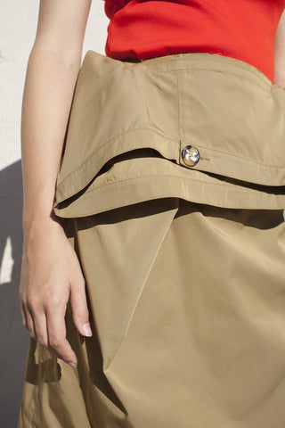 Nancy Stella Soto Khaki Skirt | Oroboro | Brooklyn, New York
