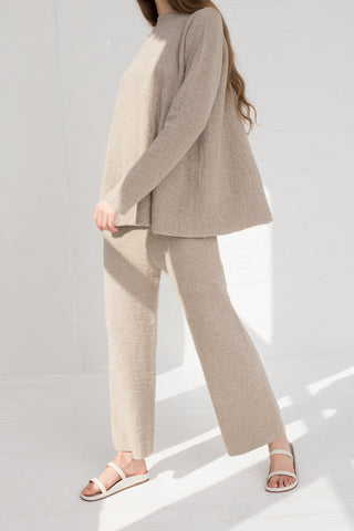 Lauren Manoogian New Miter Pants in Pumice on model view side