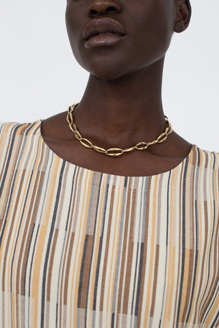 Kean Lean Necklace in Brass