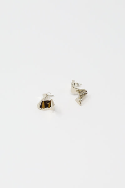 Quarry Elbe Earring in White Bronze | Oroboro Store | New York, NY