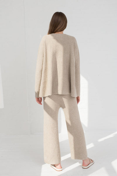 Lauren Manoogian Flare Pullover in Pumice full back view