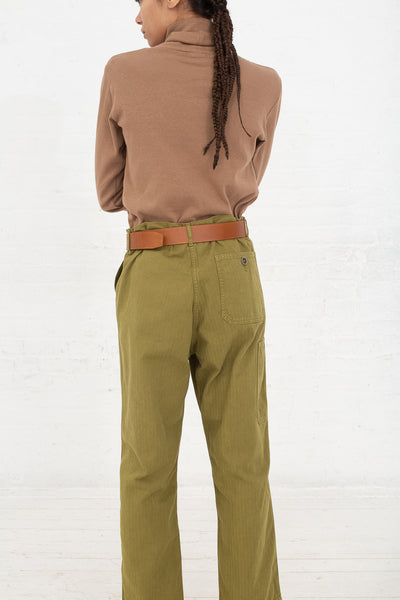 Ichi Antiquites Pant in Olive back view