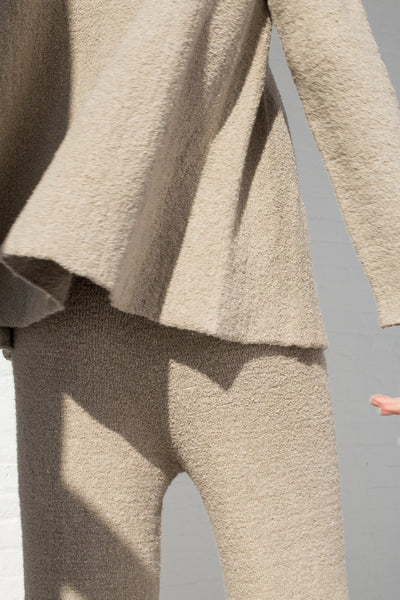 Lauren Manoogian Flare Pullover in Pumice cropped back detail view