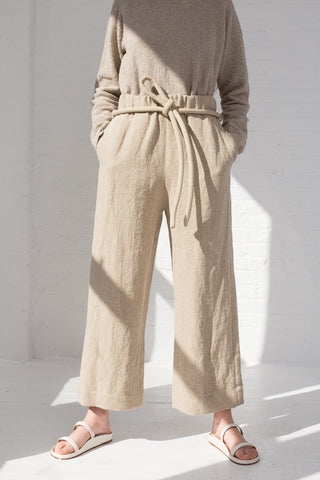 Lauren Manoogian Burlap Pants in Natural front view