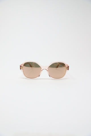 Eva Masaki Sunglasses in Rose Frame with Rose Mirrored Lens | Oroboro Store | New York, NY
