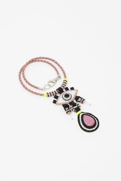 Robin Mollicone Protection Necklace in Onyx/Rhodonite/Quartz | Oroboro Store | New York, NY