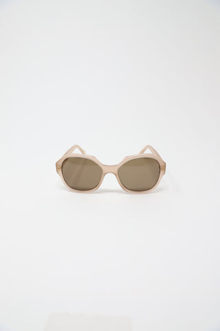 Eva Masaki Peach Frame with Brown Lens | Oroboro Store | New York, NY