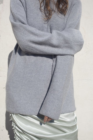 Base Range Sylvie Pullover in Grey Melange | Oroboro Store | Brooklyn, New York