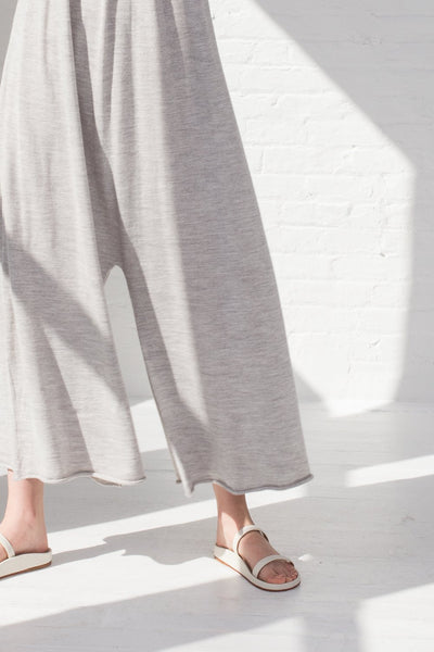 Lauren Manoogian Draw Jumpsuit in Light Grey cropped pant view