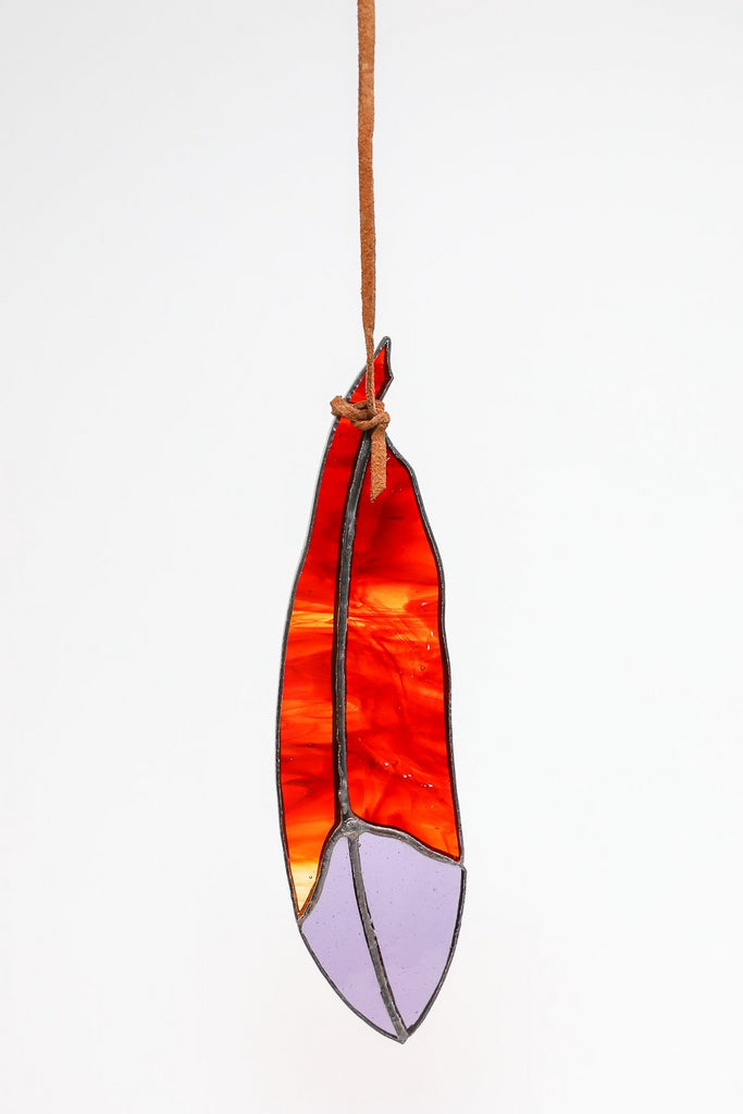 Colin Adrian Classic Feather in Red/Purple | Oroboro Store | New York, NY