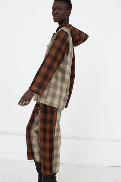 AVN Pants in Check Multi Side View Checkered Sleeve