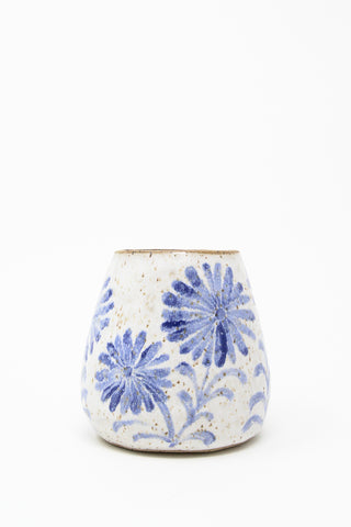 Michelle Blade Small Bud Vase  in Speckled White & Blue | Oroboro Store | New York, NY