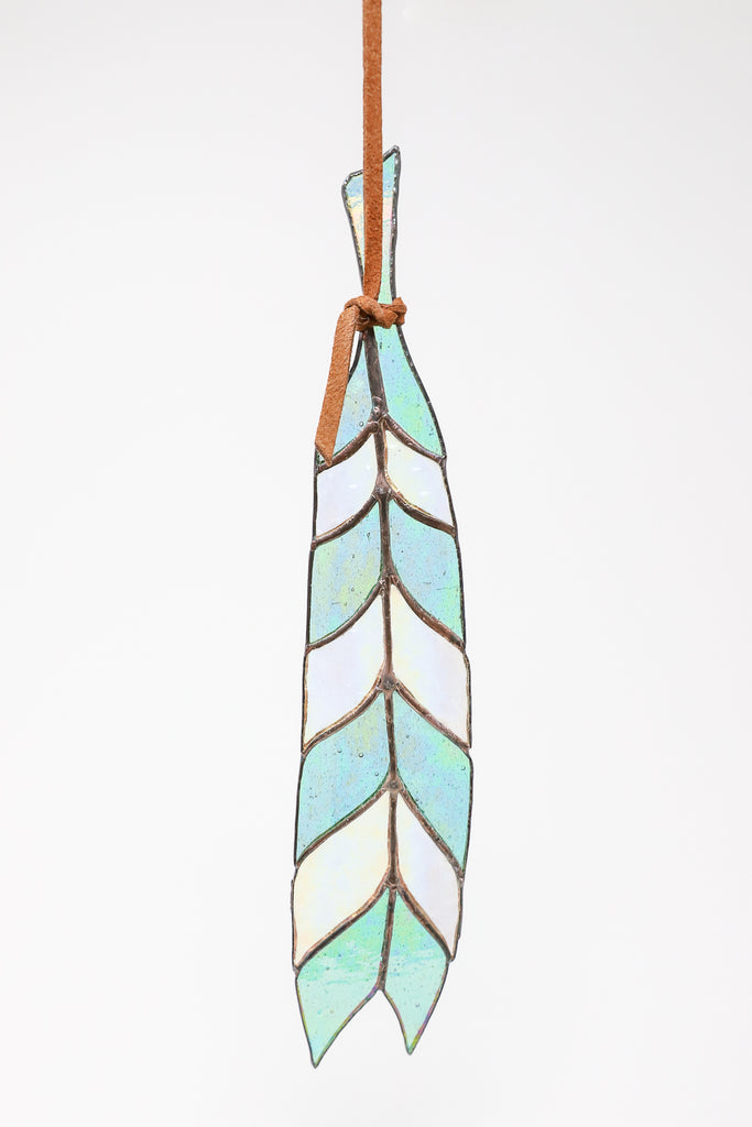 Colin Adrian Chevron Feather in Blue/Clear | Oroboro Store | New York, NY