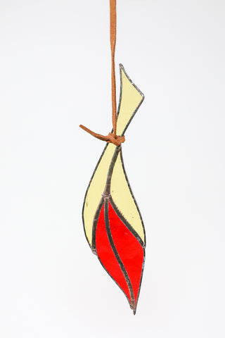 Colin Adrian Small Feather in Yellow/Red | Oroboro Store | New York, NY
