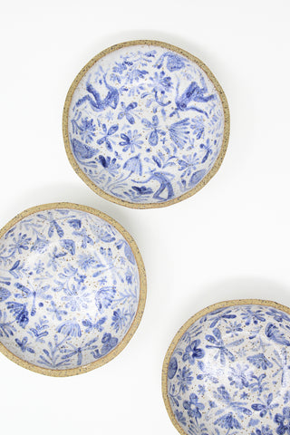 Michelle Blade Cereal Bowl in Speckled White & Blue | Oroboro Store | New York, NY